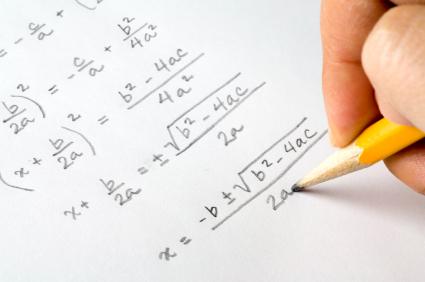 Hand writing algebra equations